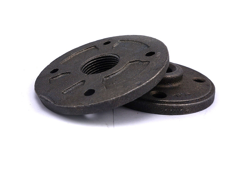 Black Or Coating Malleable Iron Flange Home Decoration FM Approval