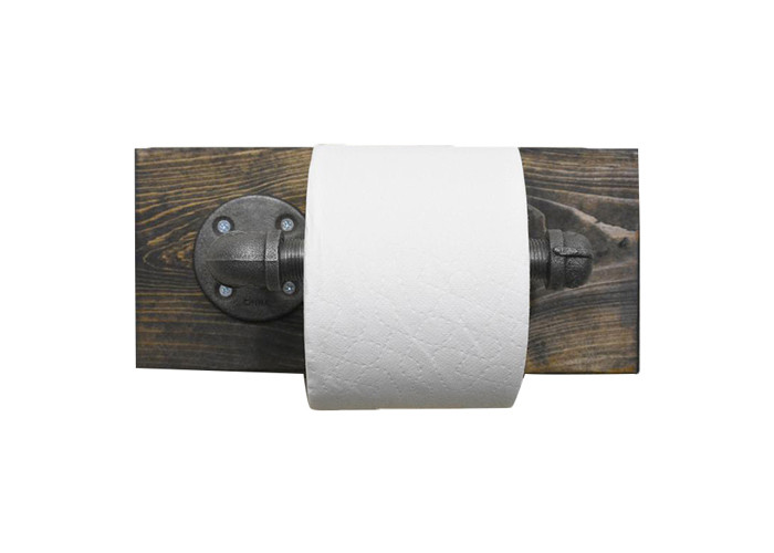 Decorative Vintage Style Industrial Pipe Toilet Paper Holder Toilet Floor Flange